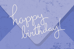 gift card - birthday purple