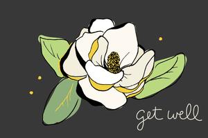 gift card - get well flower