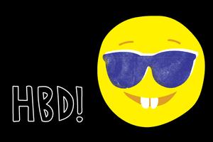 gift card - hbd smile