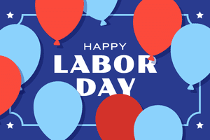 gift card - labor day balloons